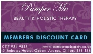 Pamper-me-membership-card